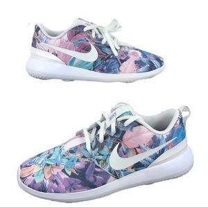 🆕 Nike Roshe G Purple Multi-Floral Golf Shoes